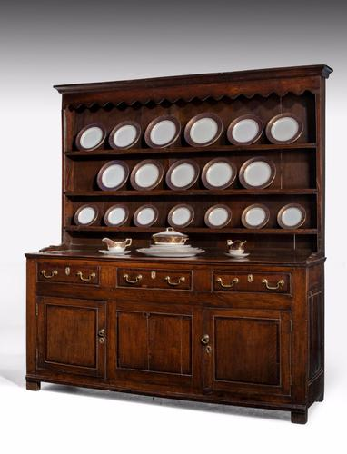Late 18th Century Oak Dresser with Delft Rack (1 of 1)