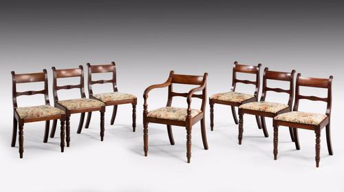 Set of 7 Regency Period (6 Plus One) Mahogany Chairs (1 of 1)