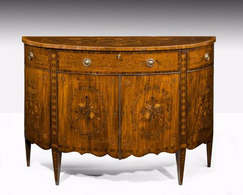 Late 18th Century Marquetry Demi-lune Commode c.1800 (1 of 1)