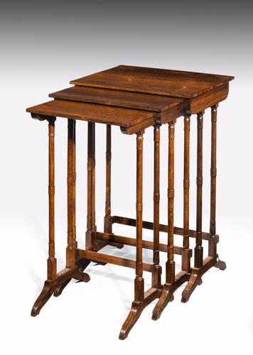 Trio of Regency Period Rosewood Stacking Tables (1 of 1)