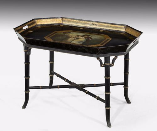 Early 19th Century Polychrome Tray c.1820 (1 of 1)