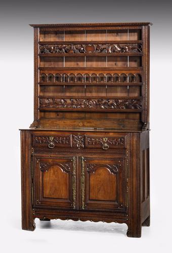 Mid 18th Century French Chestnut & Mahogany Dresser & Rack (1 of 1)