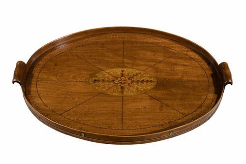 Late 18th Century Mahogany Oval Tray (1 of 1)
