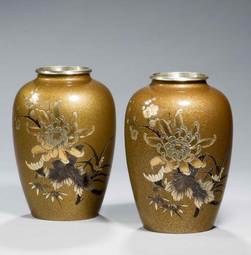 Pair of Japanese 19th Century Bronze Vases (1 of 5)