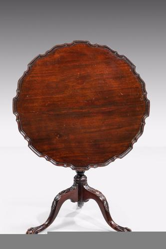 Chippendale Style Mahogany Dish Top Tilt Table C.1900 (1 of 6)