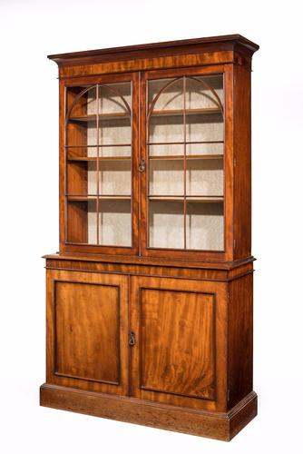 Regency Period Mahogany Bookcase with Gothic Tracery (1 of 7)