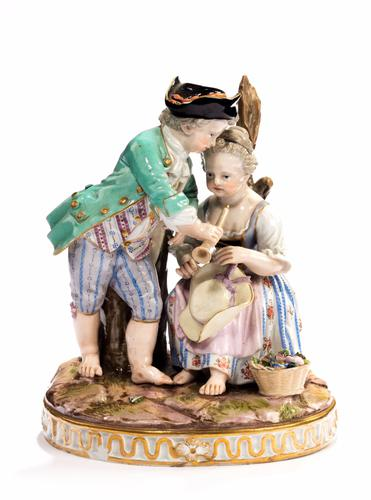 Late 19th Century Meissen Figure of Young Children (1 of 1)