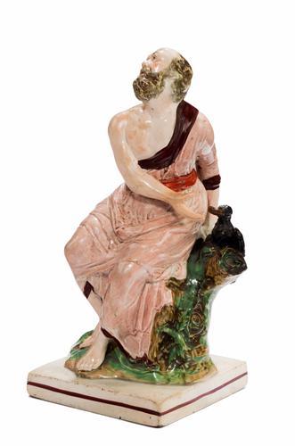 Early 19th Century Ralph Woods Type Staffordshire Figure of Saint John (1 of 1)