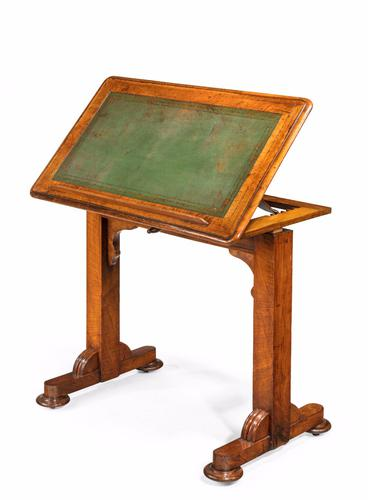 Georgian Period Mahogany Writing Table with a Sliding Height Mechanism (1 of 1)