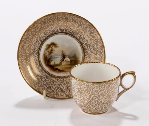 Late 19th Century Porcelain Cup & Saucer Probably Ridgeway (1 of 1)