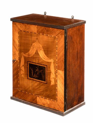 Late 19th Century Wall Hanging Cabinet in Finely Cut Timbers (1 of 1)