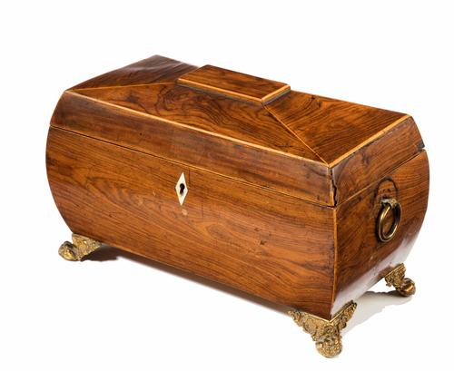 Regency Period Sarcophagus Shaped Tea Caddy (1 of 1)