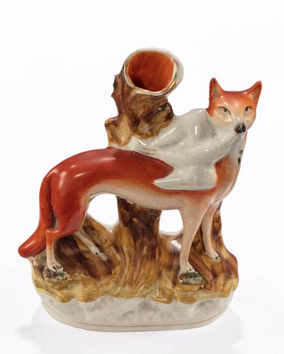 Late 19th Century Staffordshire Vase Figure of a Fox (1 of 1)