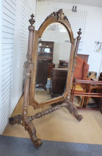 Large Cheval Mirror c.1880 (1 of 5)