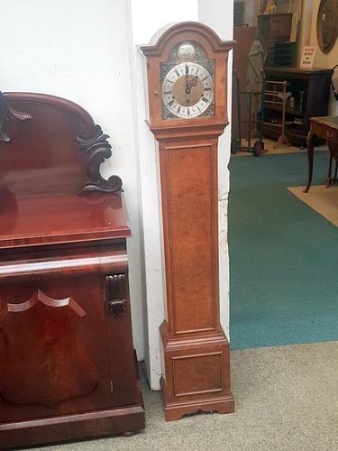Walnut Grandmother Clock (1 of 6)