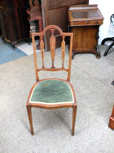 Edwardian Inlaid Chair (1 of 6)