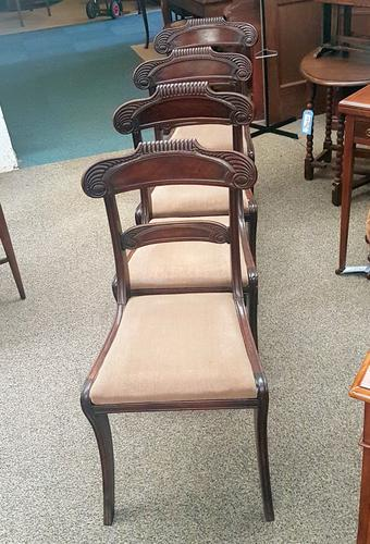 4 Antique Dining Chairs (1 of 5)