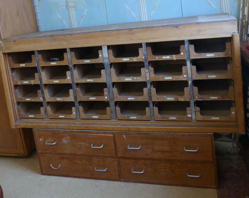 Haberdashery Shop Cabinet c.1930 (1 of 1)