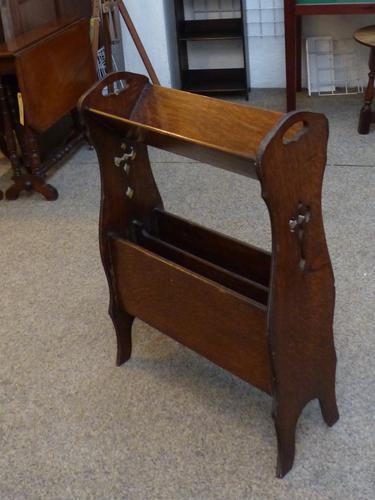 Small Oak Bookcase / Newspaper Stand c.1900 (1 of 1)