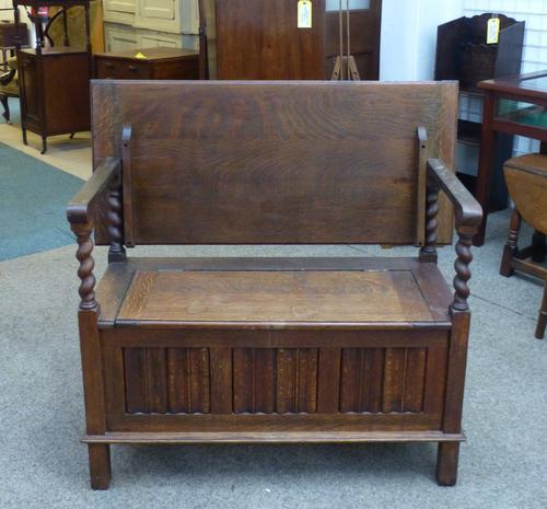 Oak Monks Bench c.1920 (1 of 1)