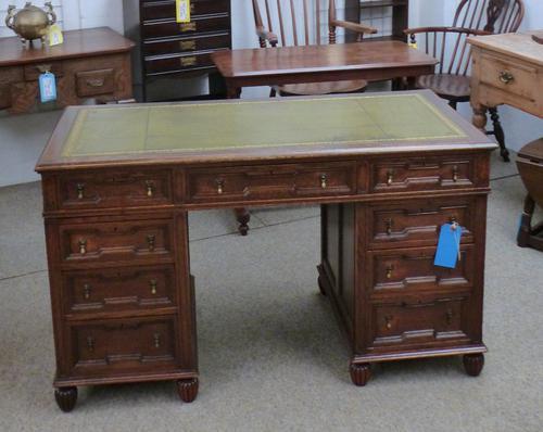 Edwardian Oak Desk (1 of 1)