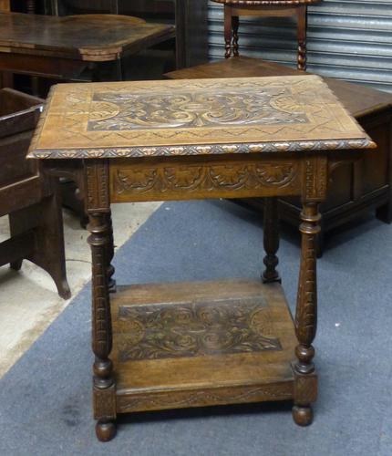 Oak Side Table c.1900 (1 of 1)