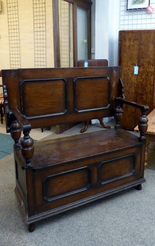 Oak Bench c.1920 (1 of 1)