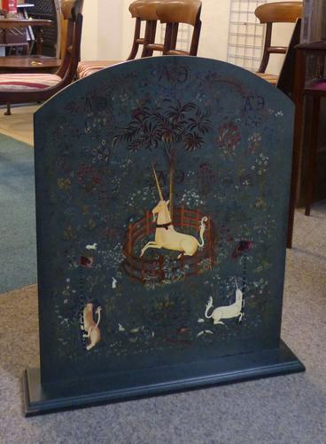 Painted Fire Screen c.1940 (1 of 1)