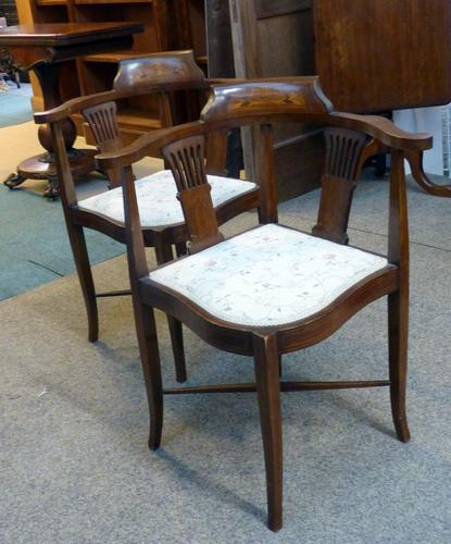 Pair of Edwardian Chairs (1 of 1)