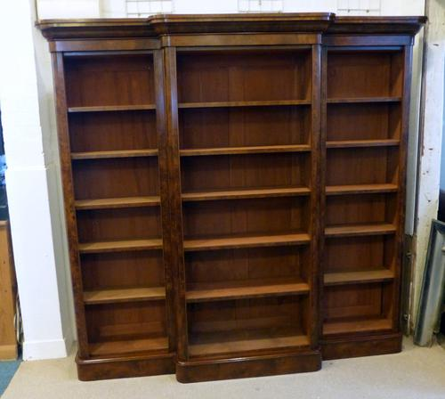 Large Walnut Bookcase c.1860 (1 of 1)