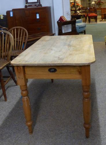 Pine Kitchen Table c.1900 (1 of 1)