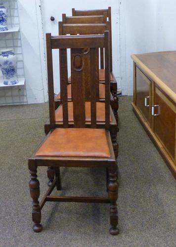 4 Oak Chairs c.1920 (1 of 1)