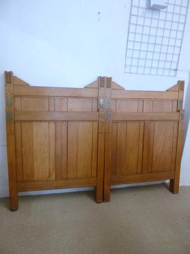 Oak Pair of Beds C.1900 (1 of 1)