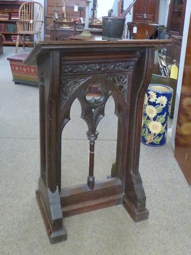 Gothic Oak Lectern c.1880 (1 of 7)