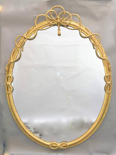 Large Gilt Oval Trafalgar Overmantle Mirror (1 of 9)