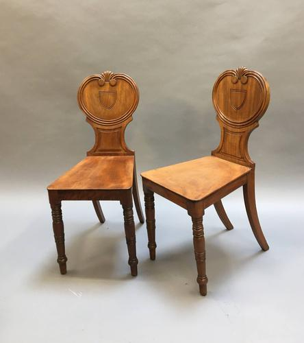 Pair of George IV Hall Chairs (1 of 10)