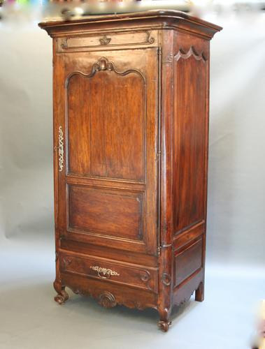 French Walnut Bonnetiere Armoire c.1850 (1 of 1)
