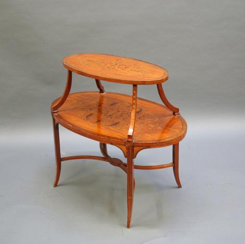 Edwardian Satinwood Occasional Table c.1910 (1 of 1)