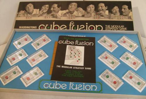 1970 Waddingtons Cube Fusion Modular Strategy Game 'Complete' (1 of 1)