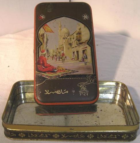 Early Macfarlane & Lang Arabian Style Biscuit Tin (1 of 2)
