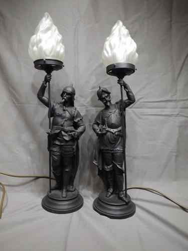 Victorian Spelter Lamps (1 of 1)