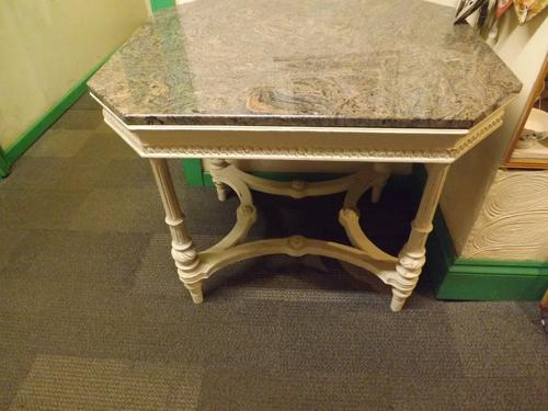 Victorian Marble Topped Centre Table (1 of 1)