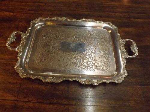 Victorian Silver Plated Tray (1 of 1)