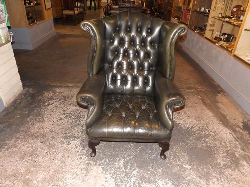 Leather Wing Armchair (1 of 1)