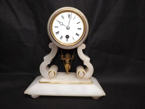19th Century Cherub Clock (1 of 1)
