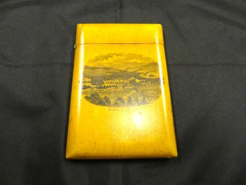 Scottish 19th Century Woodware Card Case, Laurencekirk & Mauchline (1 of 8)