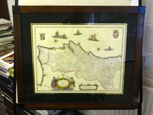 Map of Portugallia Et Algarbia Quae Olim Lusitania, Vernando Alvero Secco, c.1635 (1 of 1)