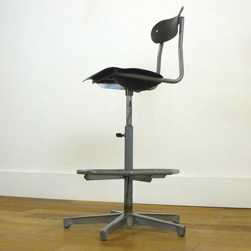 1960s Vintage Tansad Swivel Engineers Chair (1 of 12)
