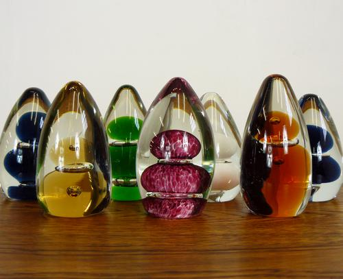 Collection of 7 Mid-Century Wedgwood Glass Paperweights 1 (1 of 8)