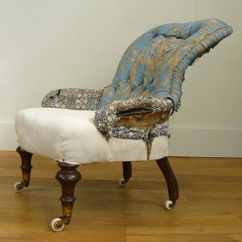 Pretty Victorian Parlour Drawing Room Chair c.1860 (1 of 12)